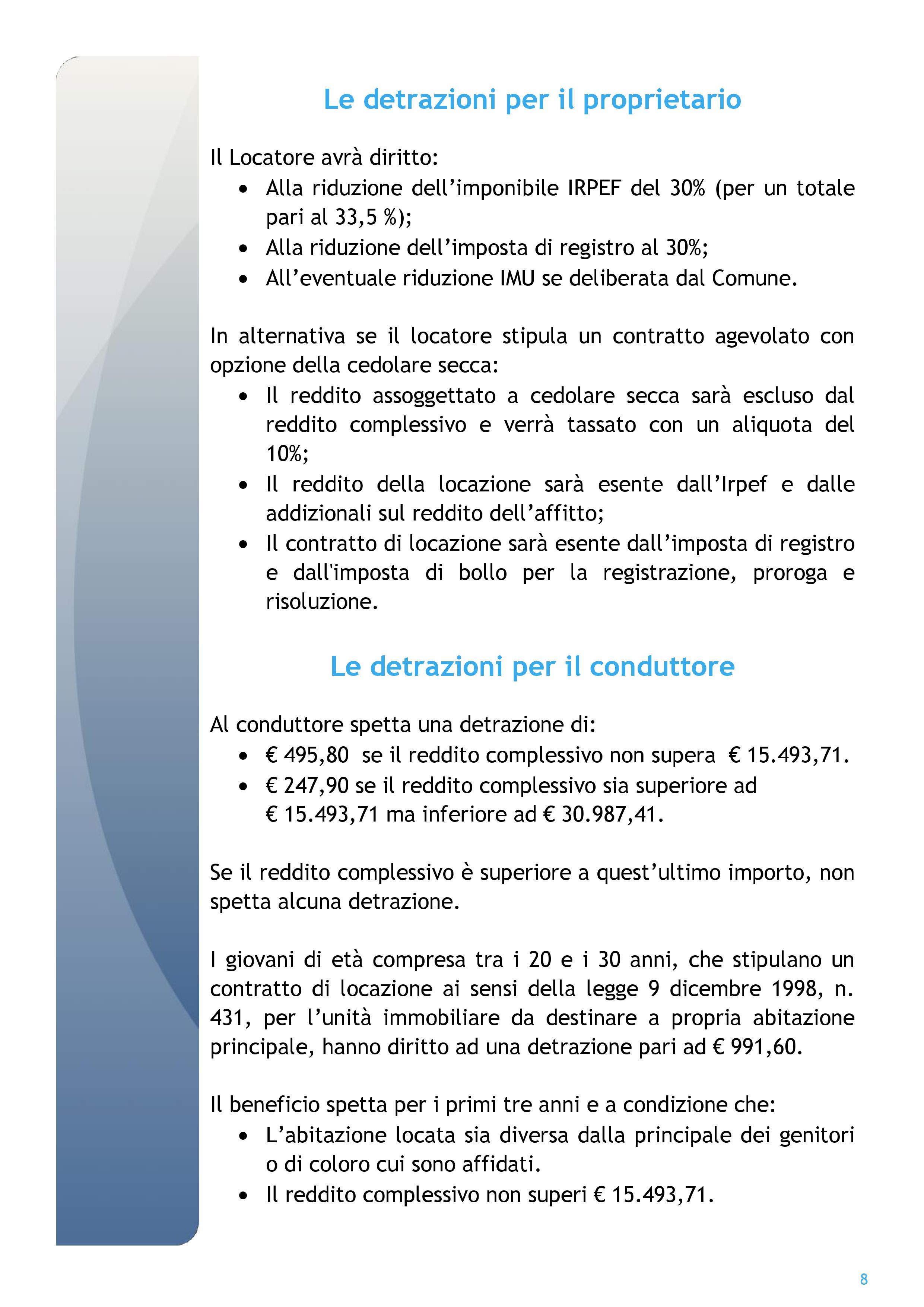 Per Luaccordo Vigente Ed I Relativi Allegati Si Rimanda Al Sito Del Comune  Di Reggio Calabria With Imposta Di Bollo Affitto.